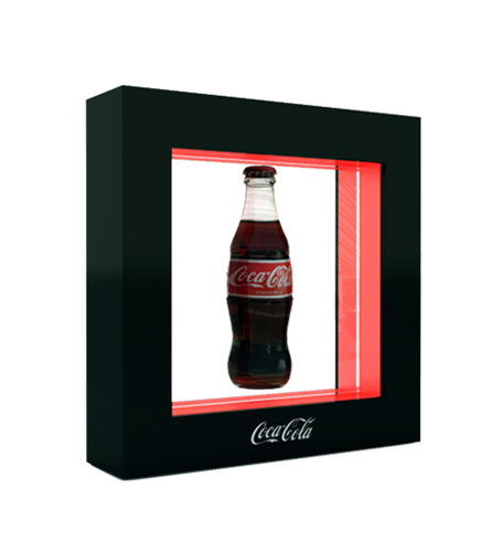 Coca Cola bottle prezenter