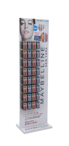 Maybelline self-standing display