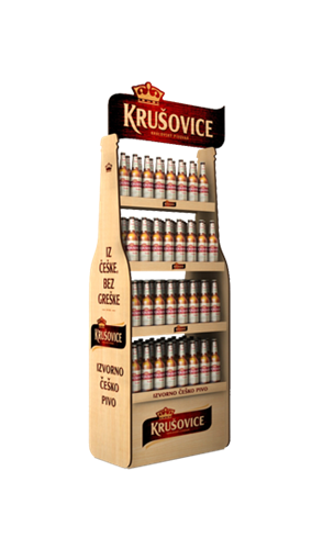 Krušovice display