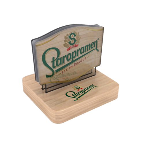 Staropramen menu holder